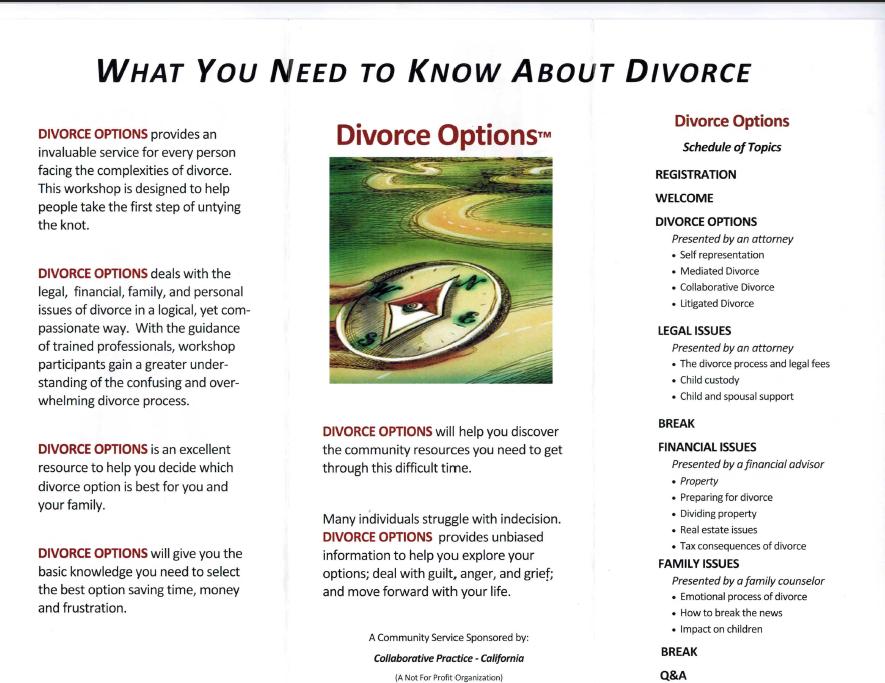 Divorce Options brochure Page 2