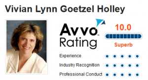 Vivian Holley AVVO Rating